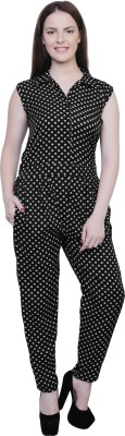 M Expose Polka Print Women's Jumpsuit