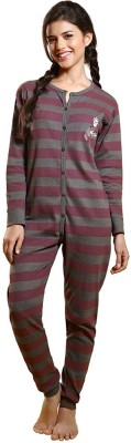 Coucou by Zivame Striped Baby Girl's Jumpsuit