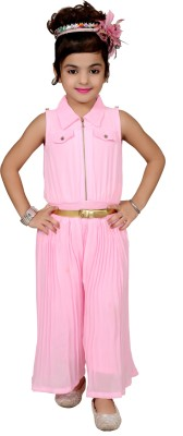kawal fashion Self Design Girl's Jumpsuit