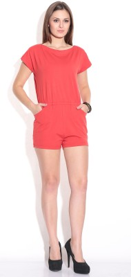 Finesse Solid Womens Jumpsuit