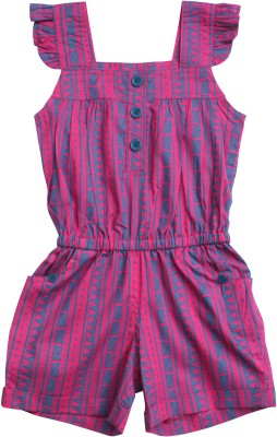 Campana Geometric Print Girl's Jumpsuit