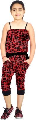 Naughty Ninos Printed Girl's Jumpsuit