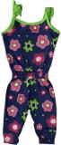 Tomato Floral Print Girls Jumpsuit
