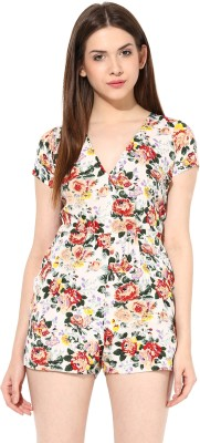 Miss Chase Floral Print Womens Jumpsuit