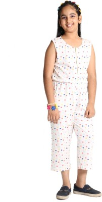 Paul & Doll Polka Print Girls Jumpsuit