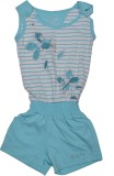 Gini & Jony Floral Print Girls Jumpsuit