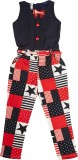 Hunny Bunny Solid, Printed Girls Jumpsui...