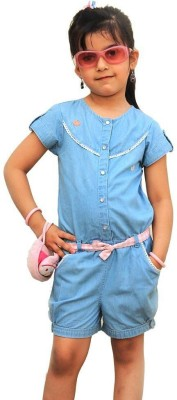ShopperTree Solid Baby Girl's Jumpsuit