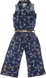 Hunny Bunny Printed Girls Jumpsuit