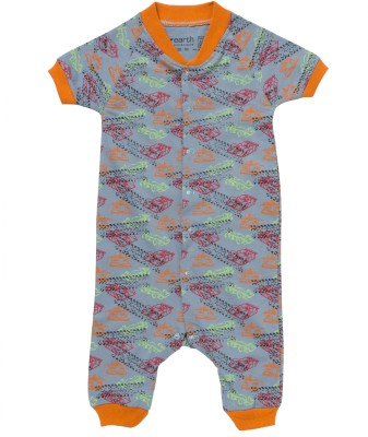 Earth Conscious Floral Print Boys & Girls Jumpsuit