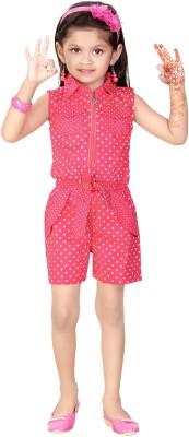 Littleopia Polka Print Baby Girl's Jumpsuit