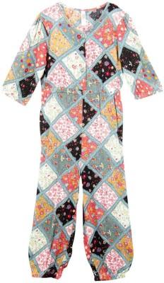 Oye Printed Girl's Jumpsuit