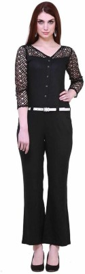 Cottinfab Solid Womens Jumpsuit