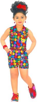 Desi Weaver Printed Girl's Jumpsuit