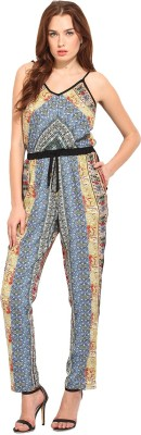 Blue Sequin Printed Women's Jumpsuit
