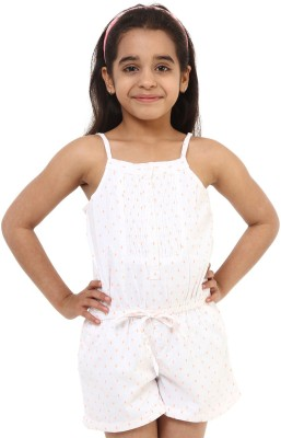 Oxolloxo Solid Girl's Jumpsuit