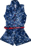 Hunny Bunny Floral Print Girl's Jumpsuit
