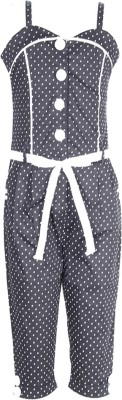 Cutecumber Polka Print Girl's Jumpsuit