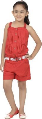 Eves Pret A Porter Solid Girl's Jumpsuit