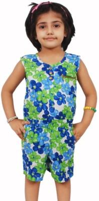 Pari & Prince Floral Print Girl's Jumpsuit