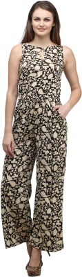 Cottinfab Floral Print Women's Jumpsuit at flipkart
