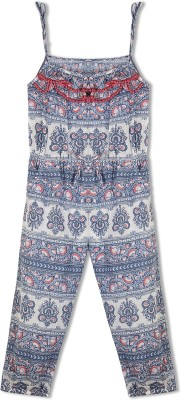 Budding Bees Printed Girl's Jumpsuit