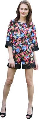 Meiro Floral Print Women's Jumpsuit