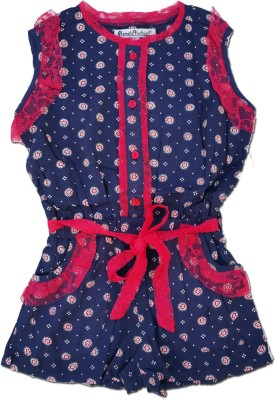 Snoby Printed Girl's Jumpsuit