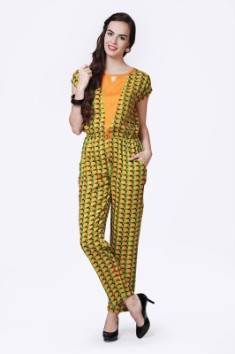 Glam & Luxe Polka Print Women's Jumpsuit