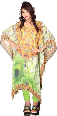7 Colorslifestyle Printed Georgette Women's Kaftan