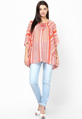 Tops and Tunics Striped POLYESTER Women's Kaftan