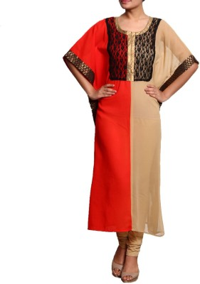 Navyou Solid Poly Georgette Women's Kaftan