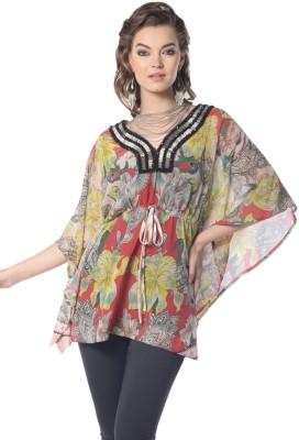 Trendy Divva Floral Print Polyester Women's Kaftan