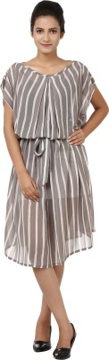 Tops and Tunics Striped Georgette Women's Kaftan
