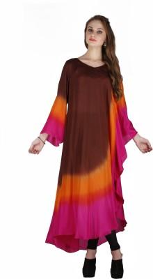 Tanya Berry Self Design Silk Women's Kaftan