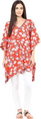 Kyla F Embellished Cotton Women's Kaftan
