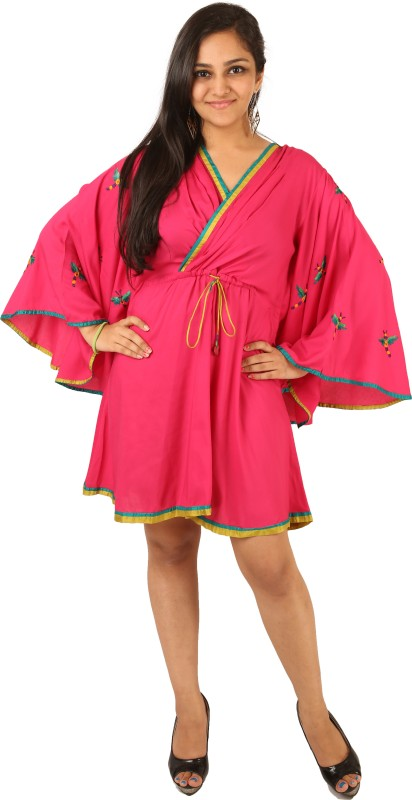 Indricka Embroidered 100% Modal Sustainable Bio-Silk, Trimmed With Pure Silk. Women's Kaftan
