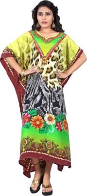 Justkartit Printed, Floral Print Crepe Women's Kaftan