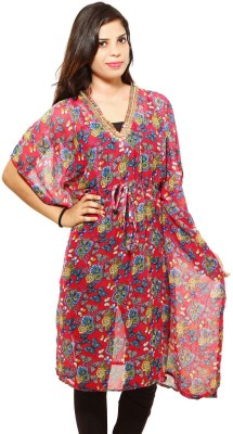 fashlovers Printed maroon Women's Kaftan