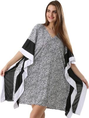 Fascinating Striped Synthetic Women's Kaftan at flipkart
