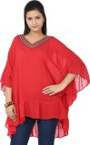 Tops and Tunics Solid Polyester Women's ...