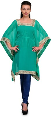 Tops and Tunics Solid Polyester Women's Kaftan