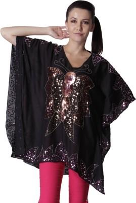 Trendy Divva Embroidered Polyester Women's Kaftan