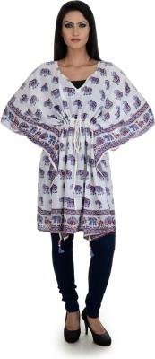 Aarohee Animal Print Cotton Women's Kaftan