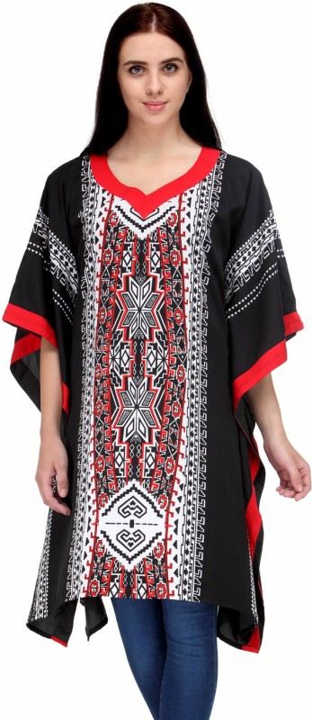 Natty India Printed Crepe Women's Kaftan