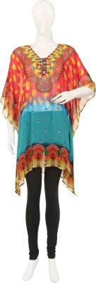 Ishima Embellished Polyester Georgette Women's Kaftan