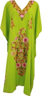Odisha Bazaar Embroidered Poly Silk Women's Kaftan