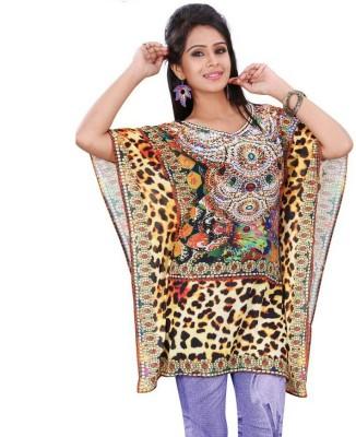 Dream fashion Printed Fine Weightless Georgette Women's Kaftan