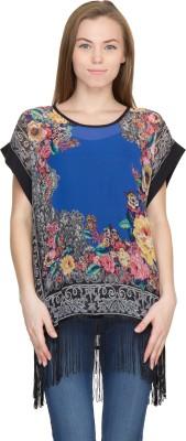 Orous Floral Print Polyester Women,s Kaftan