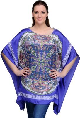 India Inc Printed Polyester and Satin Women's Kaftan